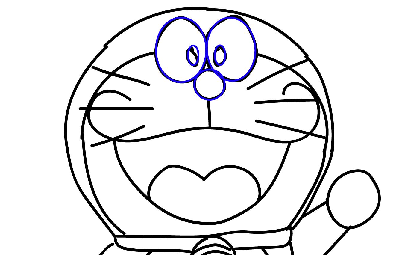 Gambar Kartun Hitam Putih Doraemon Wwwgenialfotocom